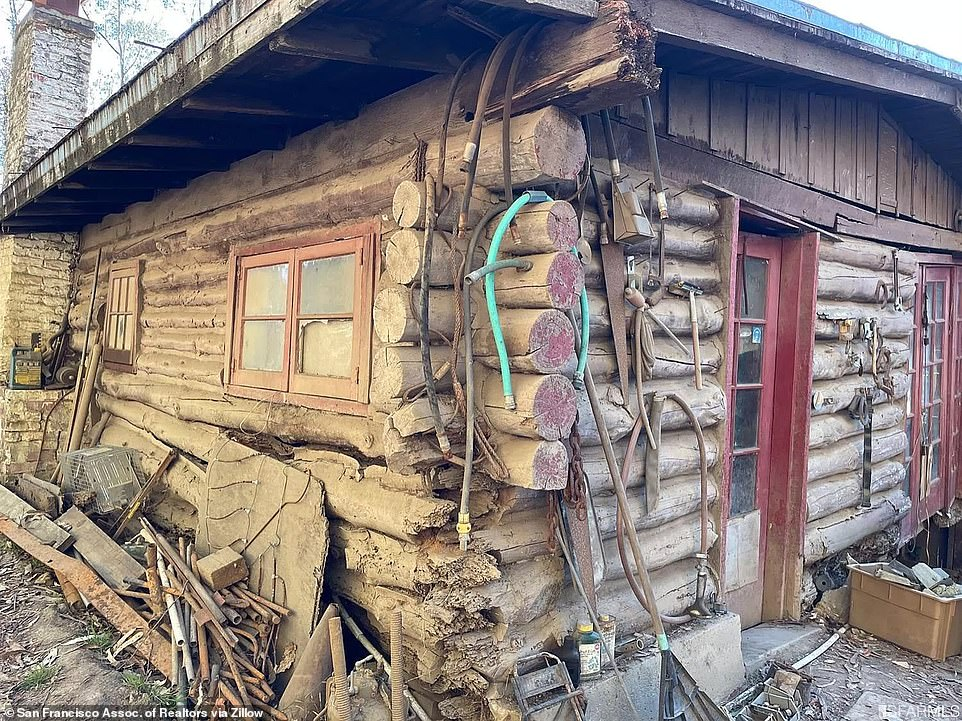 Debris can be seen all along the outside of the pricey cabin