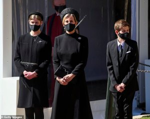 Lady Louise Windsor was the twin of Sophie Wessex's mother during Prince Philip's funeral