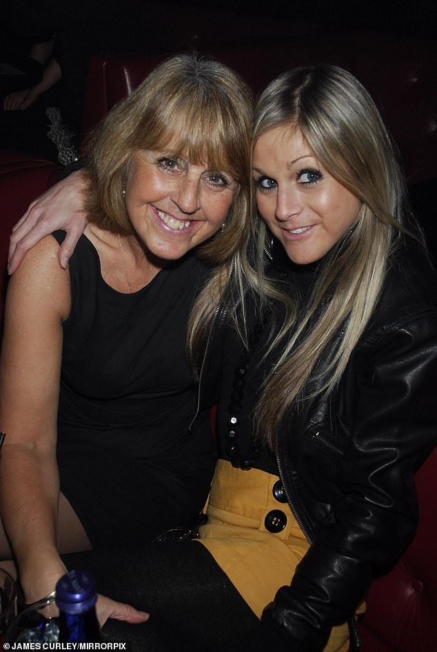 Family:The late Big Brother star spent three weeks in Dorset County Hospital in Dorchester before she left on April 9 (pictured with her mother Sue)