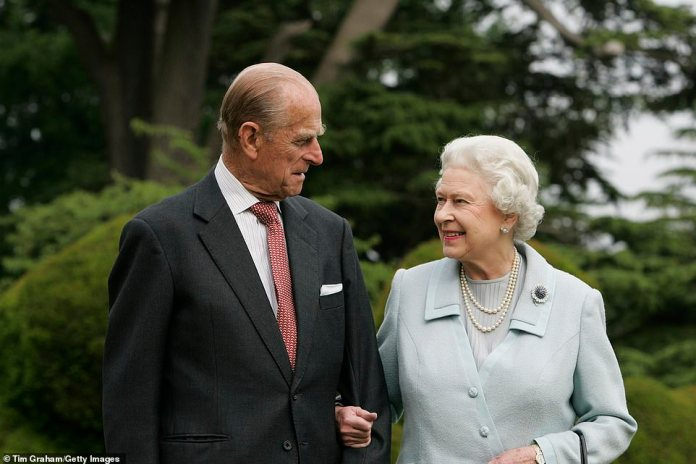 The couple, pictured together on their diamond wedding anniversary in November 2007