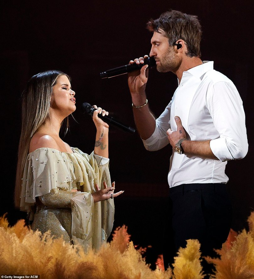 Sweet:Maren Morris and her husband Ryan Hurd kept up the duets with their performance of Chasing After You, their first-ever duet