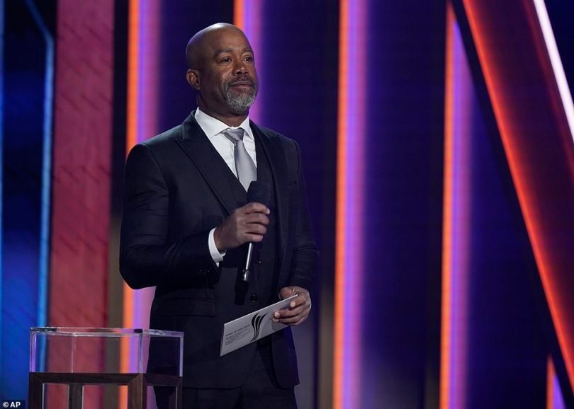 Setting the stage: Darius Rucker announced Song of the Year before calling out Morris' name