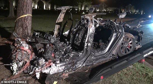 Harris County Precinct 4 Constable Mark Herman said an investigation had found that 'no one was driving' when the accident happened