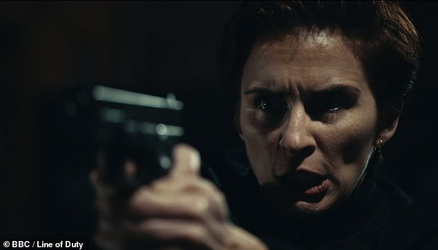 Drama:On Sunday's instalment of the hit police drama, Kate [Vicky McClure] was seen locked in a tense showdown with Ryan Pilkington [Gregory Piper]