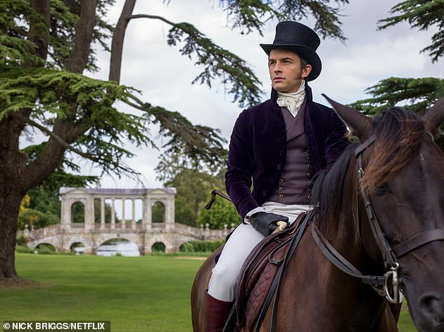 Exciting: Bridgerton has been renewed for a second, third and fourth season with Netflix, and the next season tells the story of Anthony Bridgerton (Jonathan Bailey, pictured)