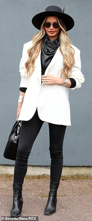 Stunner: Chloe increased the glamor