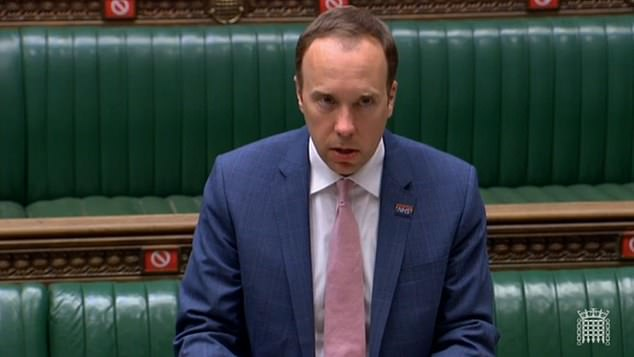 Matt Hancock told MPs that the government had made the 'difficult' decision to place the country in the highest level of restrictions