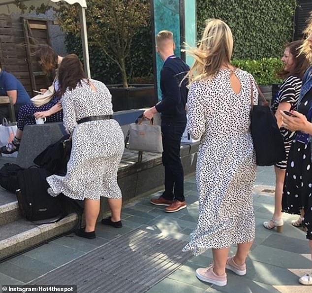 The account, which says it is a 'safe place for the dress' in the bio, often received submissions of multiple sightings of the dress in the same place