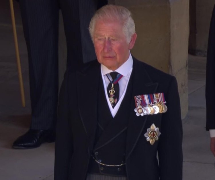 Princes Charles (pictured at his father's funeral on Saturday) and William will meet to discuss the future of the monarchy after the death of Prince Philip, reports say