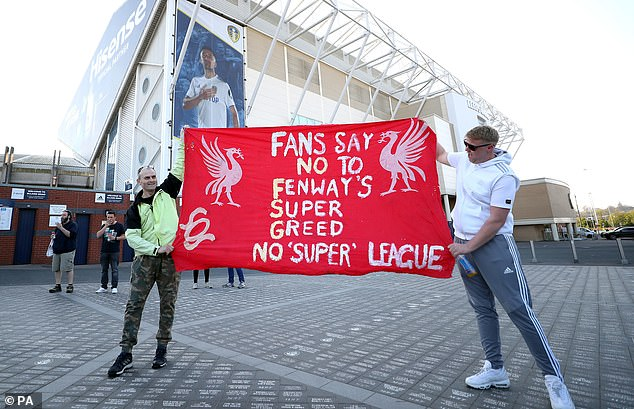 Fans of the Premier League 'Big Six', including Liverpool (pictured), have come out to protest the idea of a European Super League