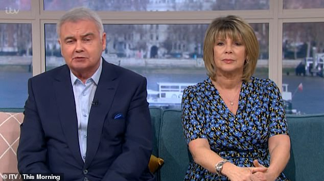 Pain: He said: 'I couldn't sleep at night, lying there at night while Ruth was sound asleep next to me and it was awful, it was honestly awful' (pictured together on This Morning)