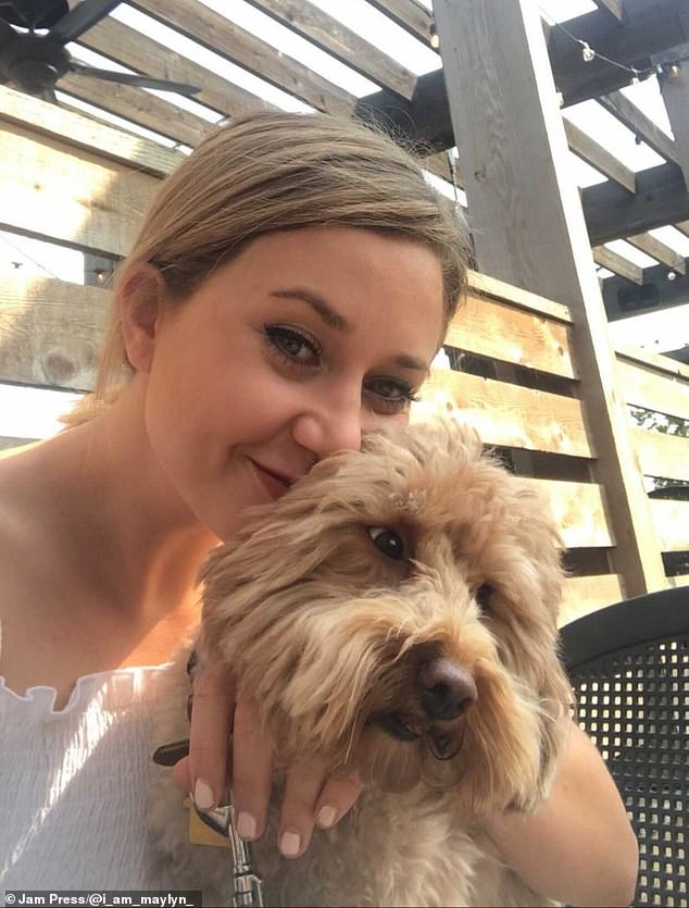 Owner Maylyn Darrow, 25, with Winson who she says is 'always camera ready'