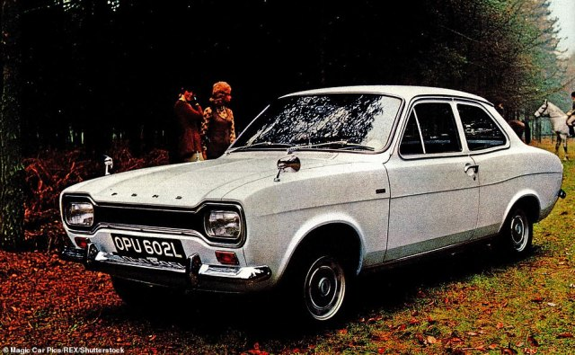 The RS2000, pictured here in a brochure, was the ultimate Ford Escort at the time and is still used for rallying