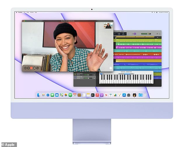The new iMac features an expansive 24-inch 4.5K Retina display2 with narrower borders and 11.3 million pixels