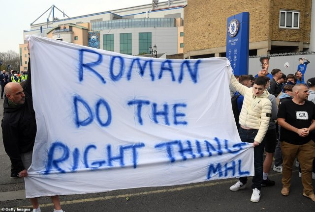 Chelsea supporters protested on Tuesday night before news of the club's withdrawal emerged