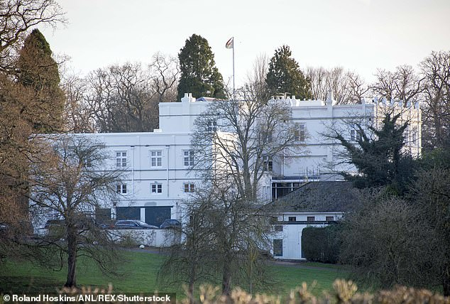 The man, 31, and his girlfriend, 29, gained entry to the grounds of the Royal Lodge (pictured) in Windsor Great Park last Sunday