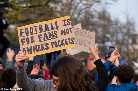 Football fans have led massive protests over the last 48 hours against the new competition
