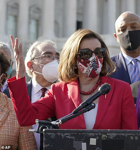 Speaker Nancy Pelosi bizarrely thanked George Floyd for 'sacrificing your life for justice' in remarks after Derek Chauvin was found guilty