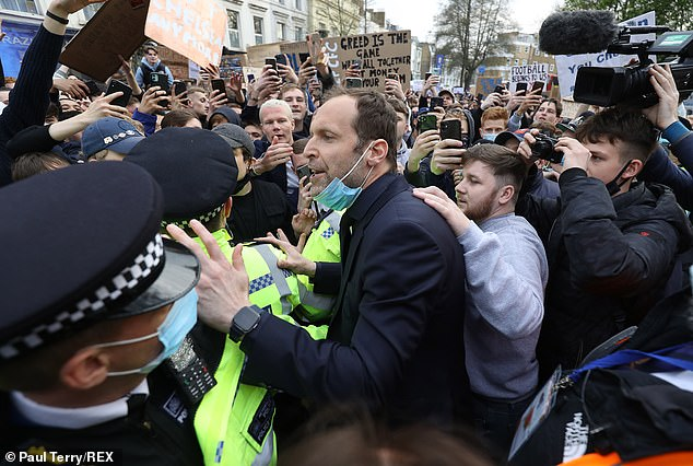 Chelsea fans and those of other clubs protested fiercely at the prospect of a Super League