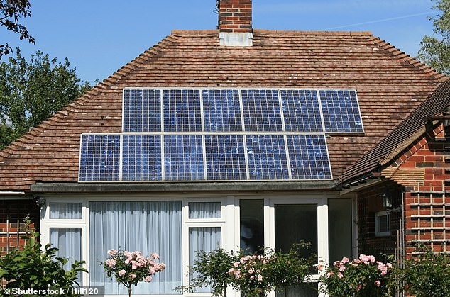 Going green: Landlords can access better mortgage deals if they carry out improvements such as fitting solar panels, upgrading windows or installing electric car charging points