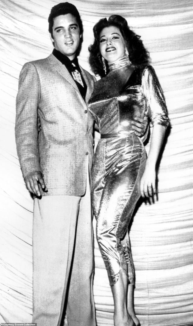 Storm enjoyed a short-lived romance with Elvis Presley in 1957. The pair are pictured together that year