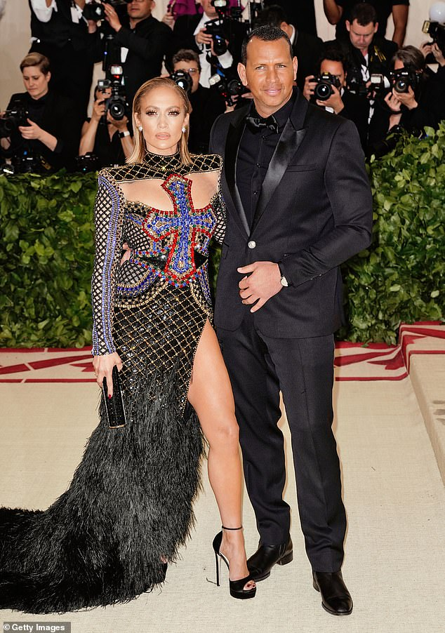Back on the market: He and Lopez recently announced the end of their two-year engagement after four years of dating; seen in 2018