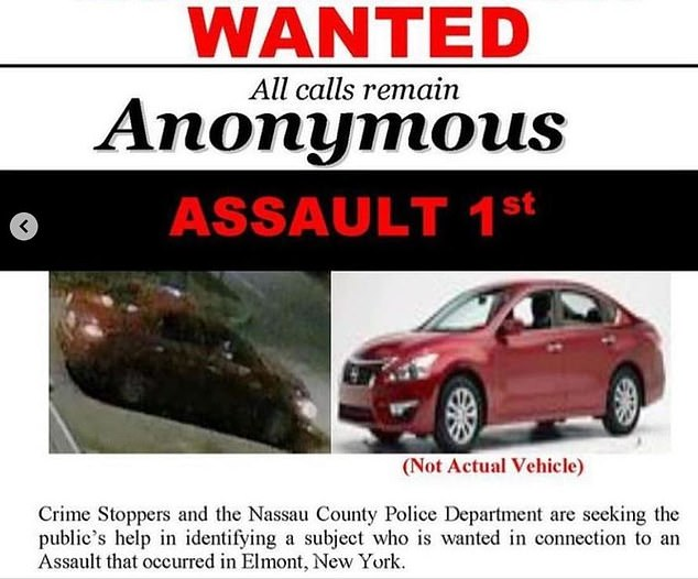 Authorities have also released an image of a vehicle, which the suspect believed left him after the attack