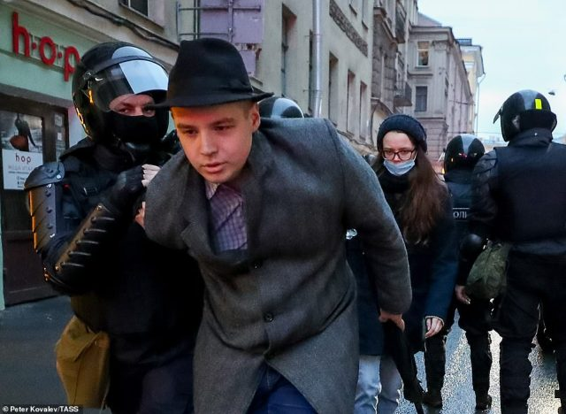 OVD-Info, a group that monitors protests and detentions, said 1,782 people had been arrested, including 804 in St. Petersburg and 119 in the Urals city of Ufa