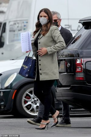 Katharine McPhee arrived at the recording studio with husband David Foster in Hollywood