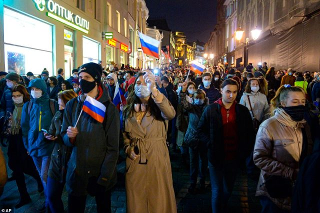 Russia says Navalny has been treated as would any other prisoner, but the opposition leader's doctors say differently, sparking the mass protests