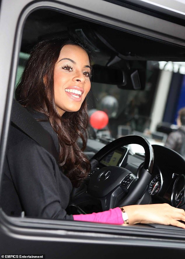 Oh dear:Speaking on Thursday's This Morning, the TV star, 32, revealed she was 'so nervous' to get behind the wheel, and explained how she insisted on taking the test in her own car bought by her nan (pictured in 2013)