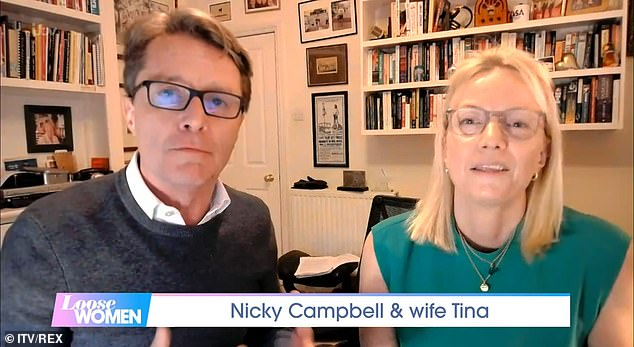 Canid: During Thursday's Loose Women, the couple opened up about Nicky's mental health battle and his subsequent diagnosis, with Tina admitting she was worried that her husband would take his own life