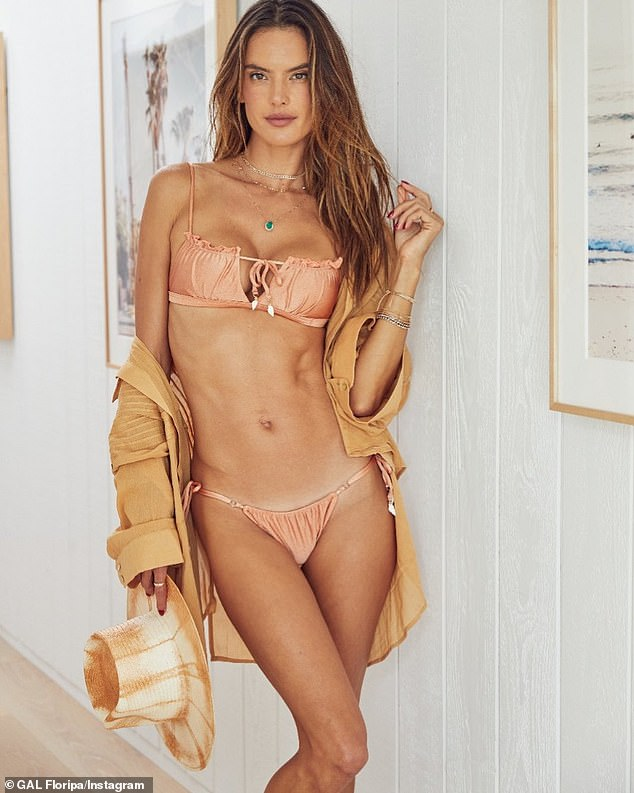 Look fabulous: Alessandra Ambrosio recently put her professional skills to work for her own line of GAL Floripa swimwear.  Here she is seen in new images from the brand shared on Instagram on Tuesday