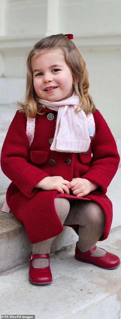 The published photo of Princess Charlotte at the age of three