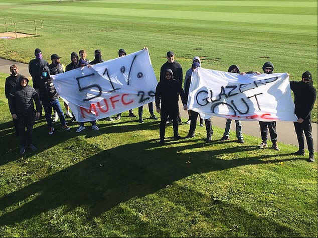 Furious supporters breached security to protest against the reviled European Super League