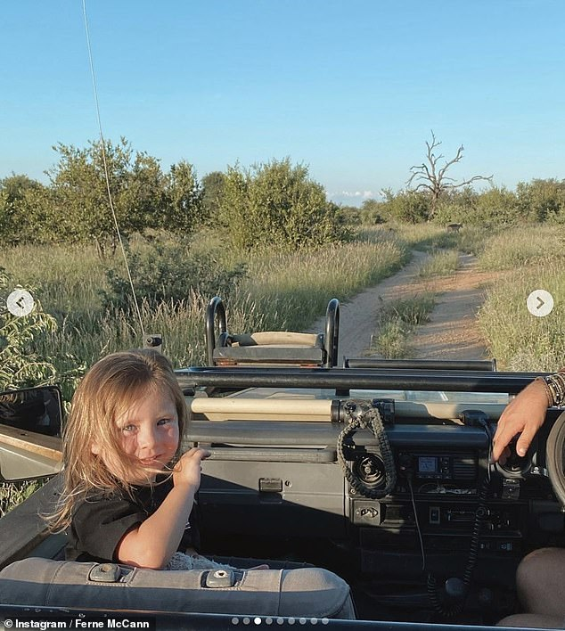 Memories: A snapshot showed a little Sunday enjoying a safari with his mother