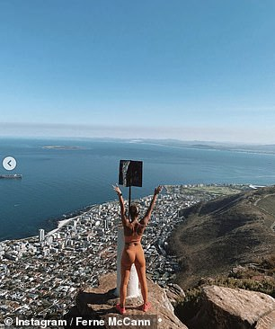 What a sight: While other footage from the duo's travels showed them soaking up the view of an ocean