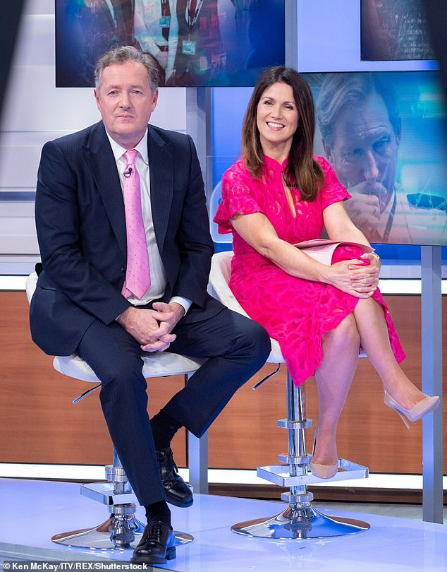 Outspoke: Piers left the daytime show after he insisted he 'didn't believe a word' of Meghan's account of suffering suicidal thoughts and experiencing racism at the hands of the royal family