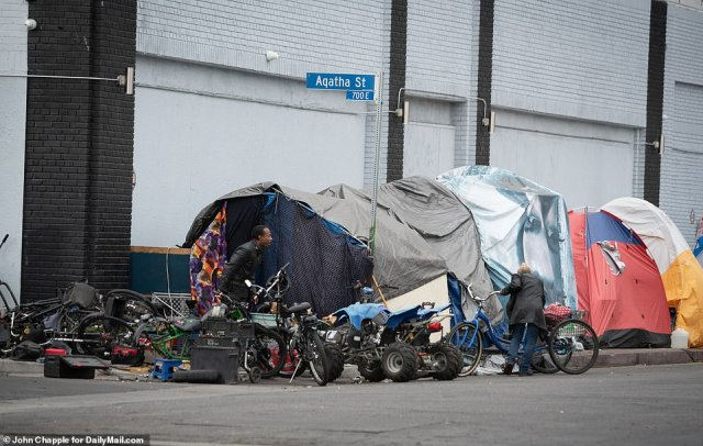 Skid Row on Wednesday, one day after Judge David O. Carter issued his order, was bustling with people - most homeless