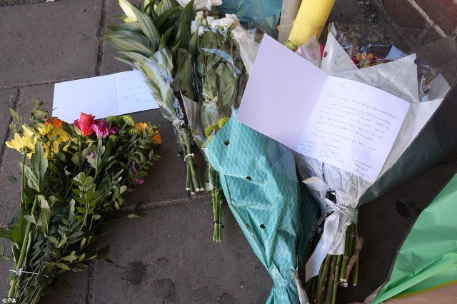 Floral tributes were this morning left at the scene of the attack, in memory of the 49-year-old moped enthusiast
