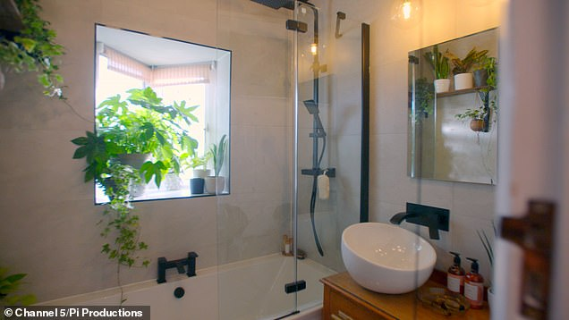 The budget included £540 spent on black taps and a shower head