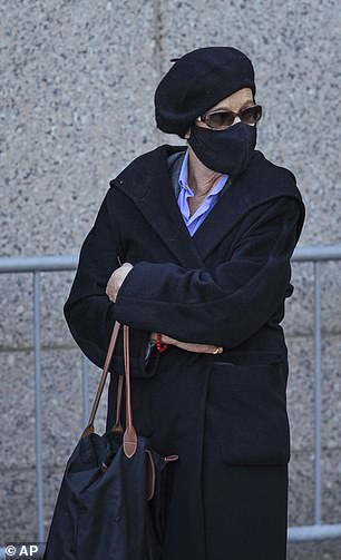 Ghislaine Maxwell's sister appeared at court wearing a black beret to support the accused sex trafficker