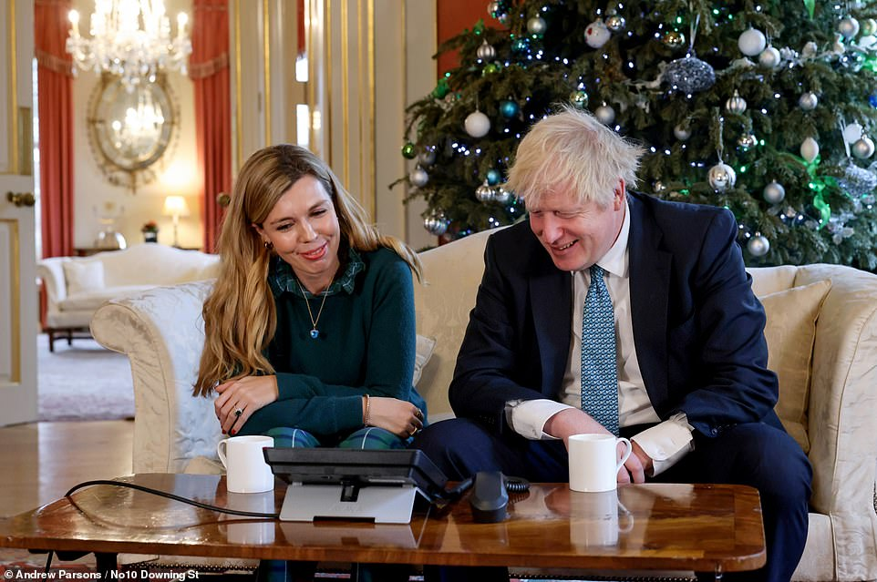 The Prime Minister (pictured with Carrie Symonds), who once vowed to end the leaking culture that helped destroy Theresa May's administration, has proved unable to stop the release of a slew of damaging revelations