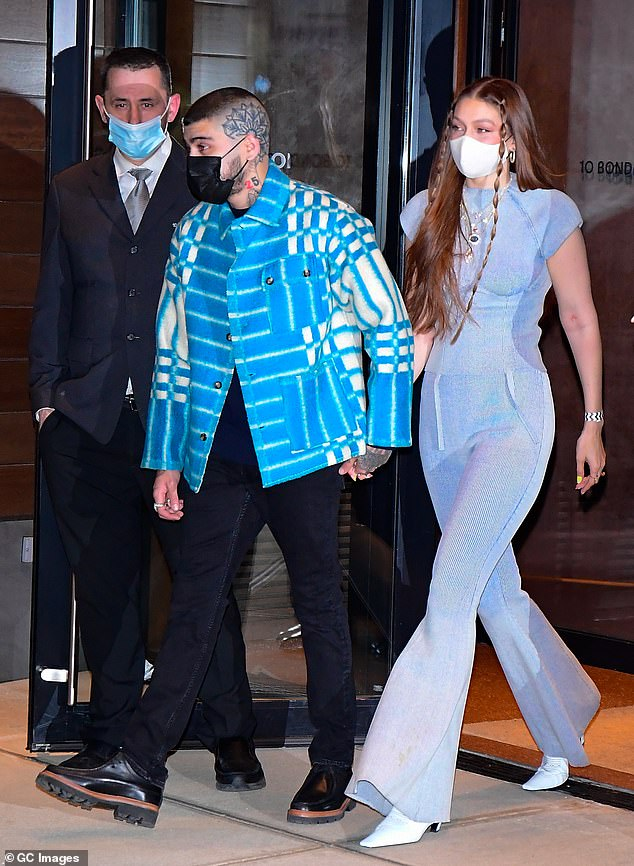 Guests of honor: Gigi was spotted with her partner Zayn Malik heading into the birthday affair in NoHo