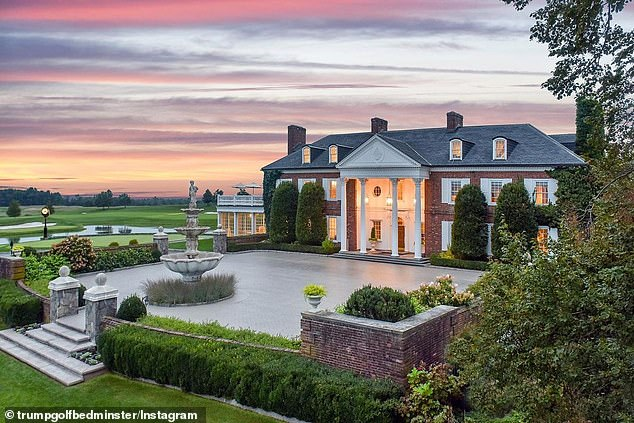 The main clubhouse in Bedminster, New Jersey, where Trump will spend the summer