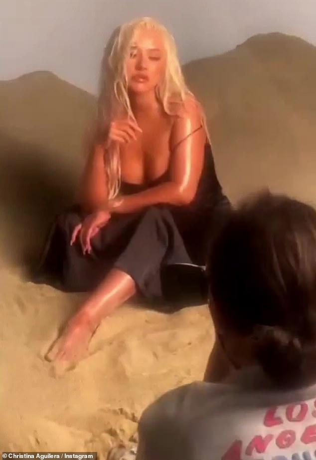 Last week: Xtina gave props to Megan Thee Stallion, when she lip-synced to her in a video clip giving fans a behind the scenes glimpse of her recent Health magazine photo shoot