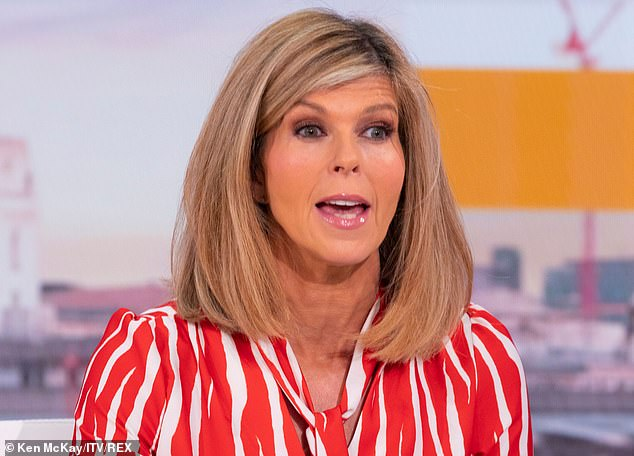 TV presenter Kate Garraway (pictured above), 53, has revealed the heart-breaking text messages that her husband sent her before he was put into an induced coma