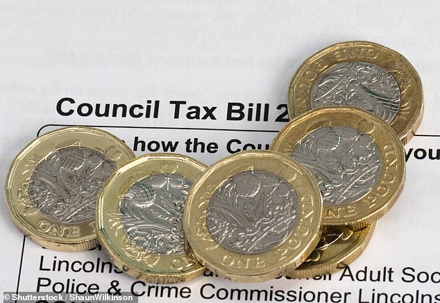 On the rise: Cash-strapped local authorities have just increased council tax bills for the year ahead by up to 5 per cent