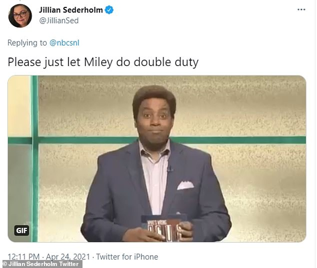 Double duty: Others wanted to see more of Miley and less of Elon as they begged for her to do double duty