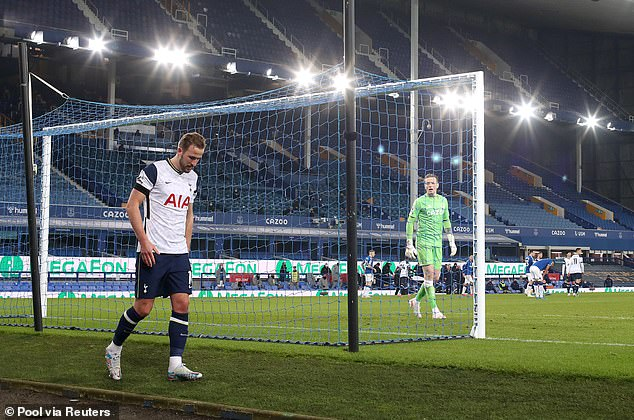 Kane is a major doubt for the Wembley final after injuring his ankle at Everton last Friday